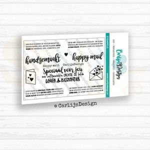 Carlijn Design, clearstamp CDST-0026, Happy Mail