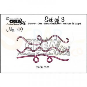 CreaLies, CLset49 Set of 3 no. 49 slingers voor ballonnen