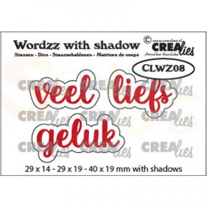 CreaLies, Wordzz with shadow, Veel liefs, CLWZ08