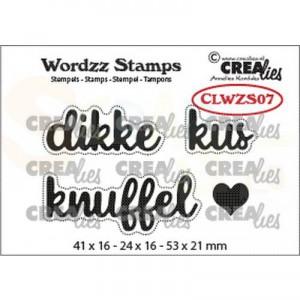 CreaLies, clearstamp Wordzz Dikke Kus CLWZS07