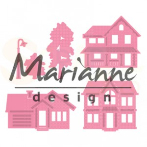 COL1451, collectable Marianne Design, Mini village