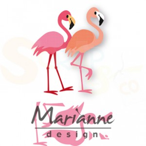 COL1456, collectable Marianne Design, Eline's flamingo