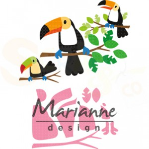 COL1457, collectable Marianne Design, Eline's toucan