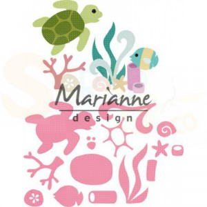 COL1468, collectable Marianne Design, Sealife by Marleen
