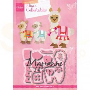 COL1470, collectable Marianne Design, Eline's Alpaca
