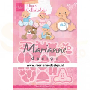 COL1479, collectable Marianne Design, Eline's Babies