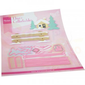 COL1503, collectable Marianne Design, Eline's Winteraccessoires