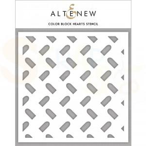 Altenew, Stencil, Color Block Hearts ALT3454