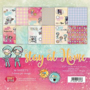 Craft&You, Stay at Home, Small paperpad CP-SAH15