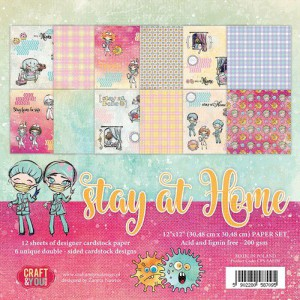 Craft&You, Stay at Home, Big paperpad CP-SAH30