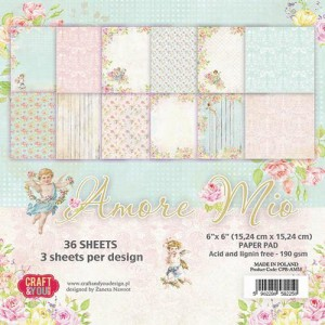 Craft&You, Amore Mio, Small Paperpad CPB-BR15