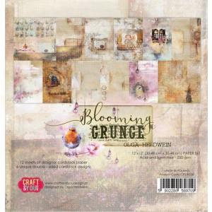 Craft&You, Blooming Grunge Big Paper set 12x12, CPB-BG30