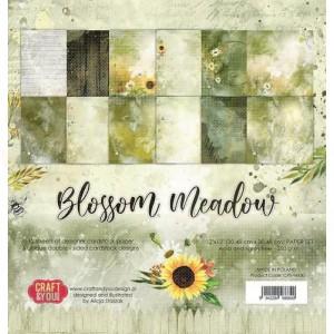 Craft&You, Blossom Meadow Big Paper set 12x12, CPB-BM30