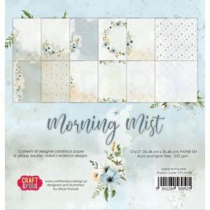 Craft&You, Morning Mist Big Paper set 12x12, CPB-MM30