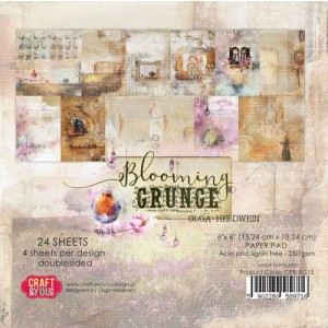 Craft&You, Blooming Grunge Small Paper set 6x6, CPS-BG15