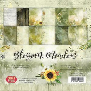 Craft&You, Blossom Meadow Small Paper set 12x12, CPS-BM15