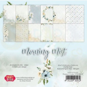 Craft&You, Morning Mist Small Paper set 6x6, CPS-MM15