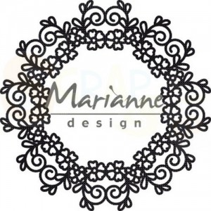 CR1470, craftable Marianne Design, Floral doily