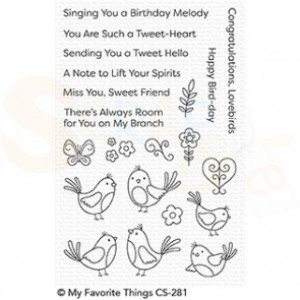 CS-281 My Favorite Things clearstempel, A Tweet Hello