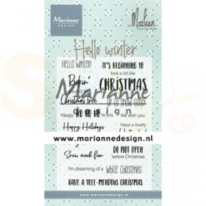 CS1037, clearstamp Marianne Design, Hello Winter