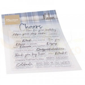 CS1057, clearstamp Marianne Design, Cheers (Eng)