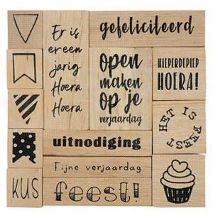 CS1076, houtstempel set Marianne Design, Feest ! (NL)