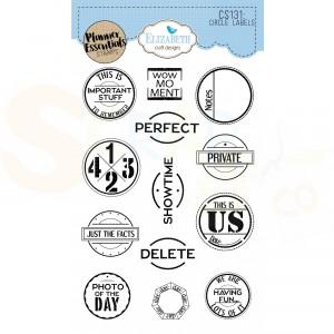 Elizabeth Craft Designs, Clearstamp CS131, Circle Labels