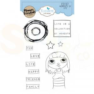 Elizabeth Craft Designs, Clearstamp CS137, My Life