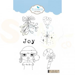 Elizabeth Craft Designs, clearstamp CS154, Oh the Joy of Christmas