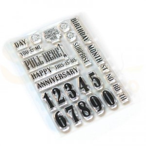 Elizabeth Craft Designs, clearstamp CS160, Pieces of Life 1 - Numbers & More