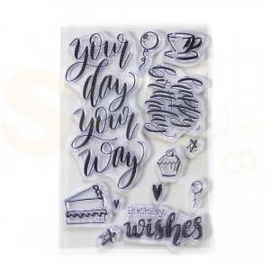 Elizabeth Craft Designs, clearstamp CS171, Your day