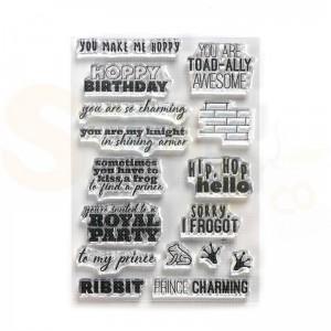 Elizabeth Craft Designs, clearstamp CS185, Prince & Frog sentiments