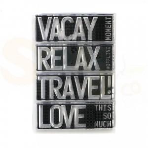 Elizabeth Craft Designs, clearstamp CS193, Block words - Travel