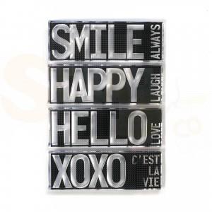 Elizabeth Craft Designs, clearstamp CS194, Block words - Hello