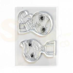 Elizabeth Craft Designs, clearstamp CS207, Cute Winter Couple