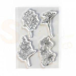 Elizabeth Craft Designs, clearstamp CS209, Flowy Florals