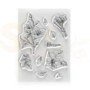Elizabeth Craft Designs, clearstamp CS224, Blossom
