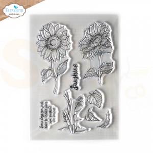 Elizabeth Craft Designs, clearstamp CS242, Sunshine
