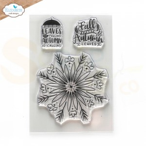 Elizabeth Craft Designs, Into the woods clearstamp CS244, Autumn leaves