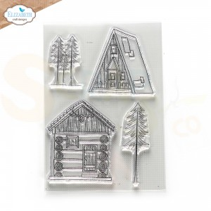 Elizabeth Craft Designs, Into the woods clearstamp CS248, Cabin Love