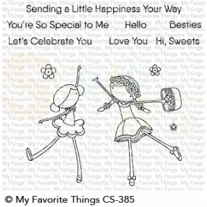CS-385 + MFT-1501 My Favorite Things clearstempel + stans, Sweet Besties