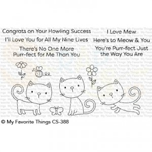 CS-388 + MFT-1503 My Favorite Things clearstempel + stans, Purr-fect