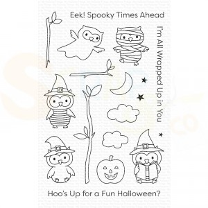 CS-497 My Favorite Things clearstempel, Halloween Hoo