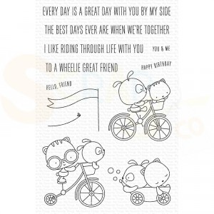CS-551 My Favorite Things clearstempel, Wheelie great friend