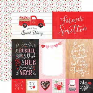 Echo Park Paper, Cupid & Co CUP227009, 4x6 Journaling cards