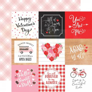 Echo Park Paper, Cupid & Co CUP227011, 4x4 Journaling cards