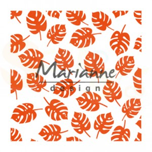 DF3449, embossingfolder Marianne Design, Tropical leaves