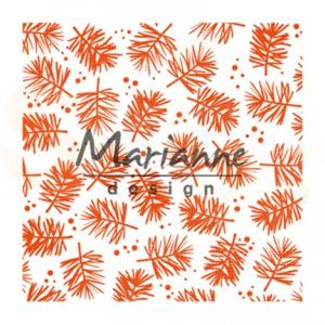 DF3450, embossingfolder Marianne Design, Pine