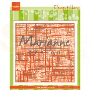 DF3453, Embossing folder Marianne Design, Linnen