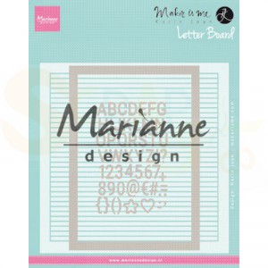 DF3454, Embossing folder EXTRA Marianne Design, Karin Joan's Letter Board